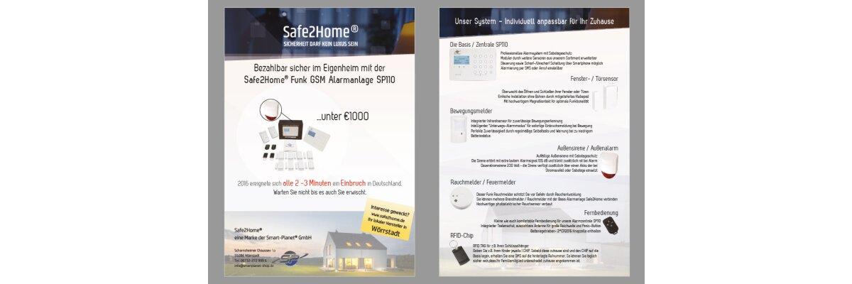 Solar Außensirene - Neue Entwicklung für das Safe2Home Alarmsystem - Funk Alarmanlage -