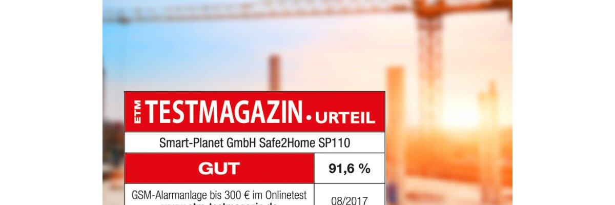 Das ETM-Testmagazin bewertet unser Alarm-System 91,6% -