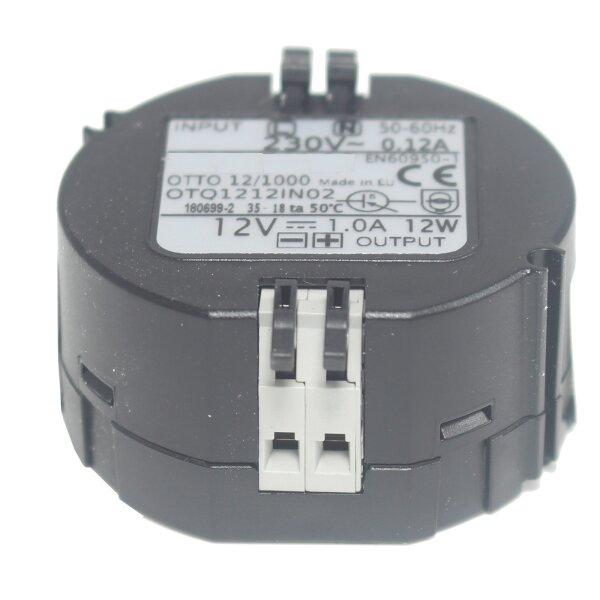 Wand Unterputz Netzteil 230V auf 12V 1A DC stabilisiert für Basis oder Kameras