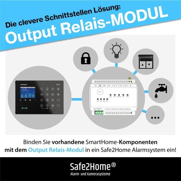 Safe2Home Funk Relais Modul - Smart Home Modul SP310 für die einfache Kombination / Verbindung von anderen Systemen