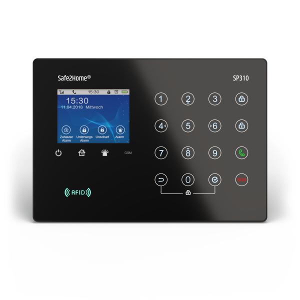 SP310 BASIS Funk Alarmanlagen Zentrale mit Sabotageschutz – WIFI / GSM / SMS Alarmierung
