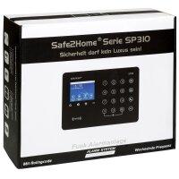 Großes Set SP310 Profi - Funk Alarmanlage mit Rolling Code - wechselnde Frequenz – WLAN GSM Alarmsystem