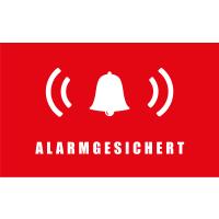 Safe2Home® 9er Set Aufkleber Alarmgesichert - Innenklebend 5x3 cm Rechteckig Alarm Sticker - UV Schutz Aufkleber