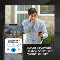 Funk Alarmanlagen Basis Set SP210 4G Version mit Sabotageschutz – WIFI / GSM / SMS Alarmierung - Lichtsteuerung