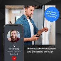 Funk Alarmanlagen Großes Set SP210 mit Sabotageschutz – WIFI / GSM / SMS Alarmierung - Lichtsteuerung