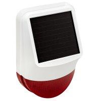 Solar Funk Außensirene für Funk Alarmanlage...